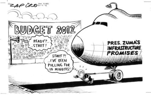 'Can Gordhan Budget?': Africartoons.com