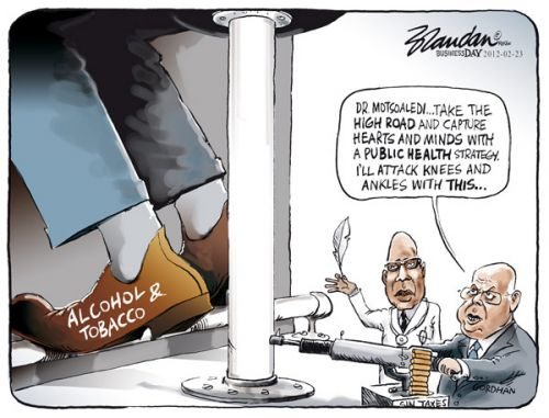 'Aiming for the Ankles ': Africartoons.com