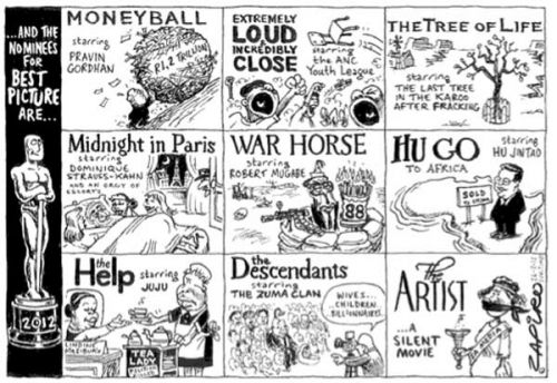 'Zapiro at the Oscars': Africartoons.com