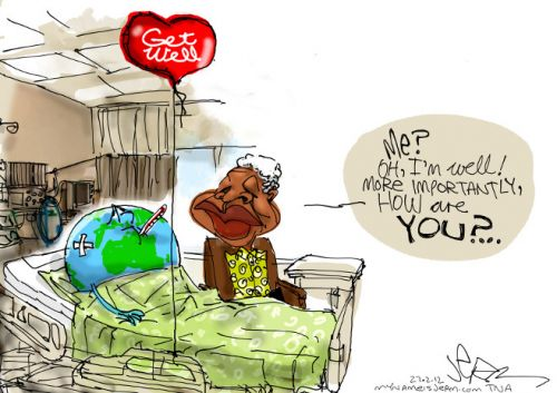'Mandela in Hospital ': Africartoons.com