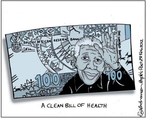 'A Clean Bill of Health for Madiba': Africartoons.com