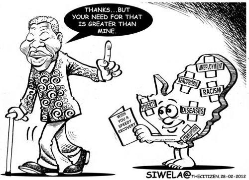 'Madiba Recovers': Africartoons.com