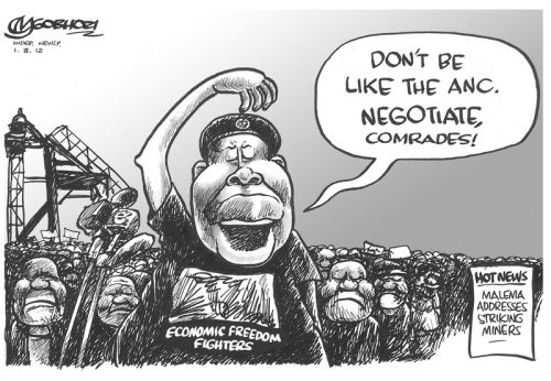 'Striking a Pose': Africartoons.com