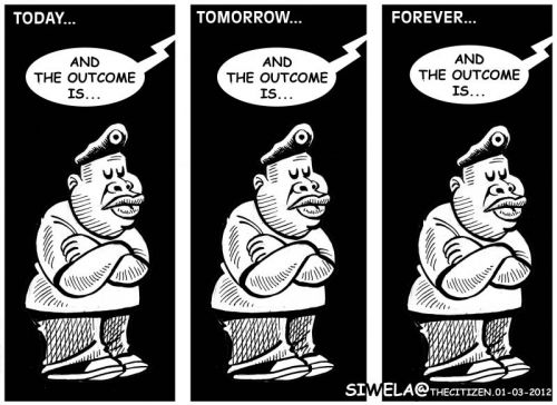 'The Ongoing Saga of Disciplining Malema': Africartoons.com