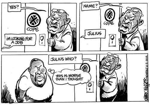 'Will Malema Cope?': Africartoons.com