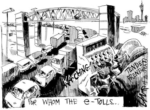 'Ask not for whom the e-Tolls': Africartoons.com
