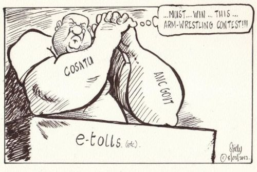 'COSATU Flexes its Muscles': Africartoons.com