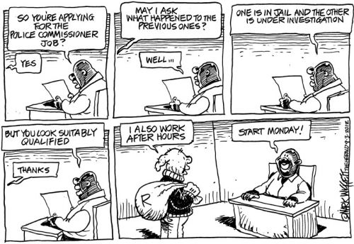 'Interviews for Police Commissioner': Africartoons.com