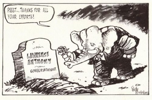 'RIP Lawrence Anthony ': Africartoons.com