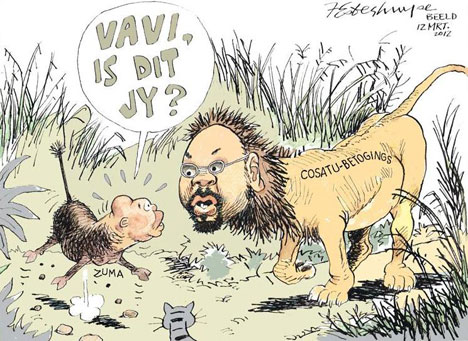 'Vavi the Lionhearted': Africartoons.com