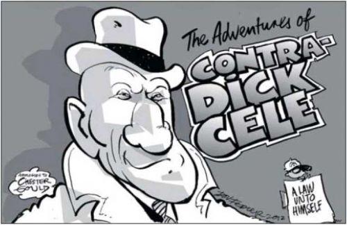 'Dick Cele': Africartoons.com