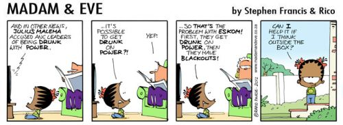 'Drunk on Power': Africartoons.com