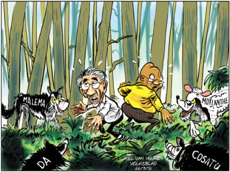 'The Wolves are Circling  ': Africartoons.com