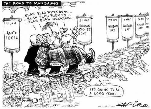 'We are Marching to Mangaung...': Africartoons.com