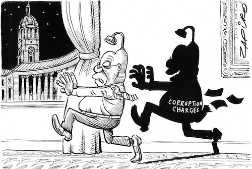 'A Shadow of His former Self': Africartoons.com