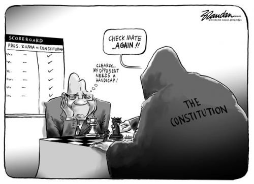 'Zuma Check Mated': Africartoons.com