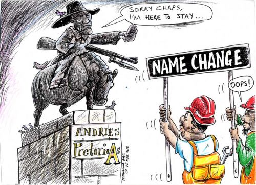 'Pretoria Keeps Her Name': Africartoons.com