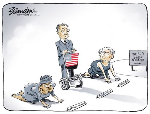 'Who Will Preside Over The World Bank?': Africartoons.com