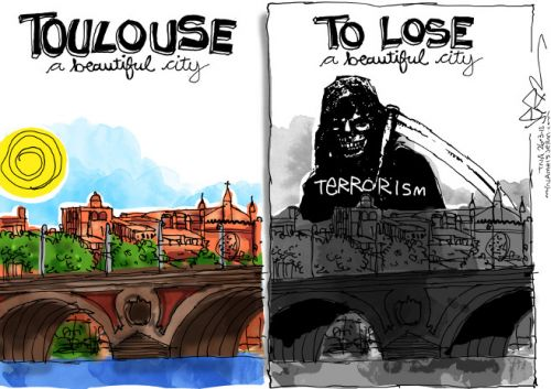 'Terror in Toulouse': Africartoons.com