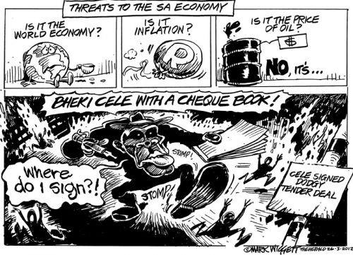 'Threats to the SA Economy': Africartoons.com