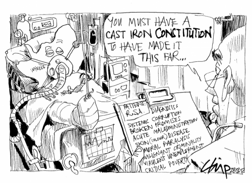 'If It Weren't For Our Hardy Constitution...': Africartoons.com