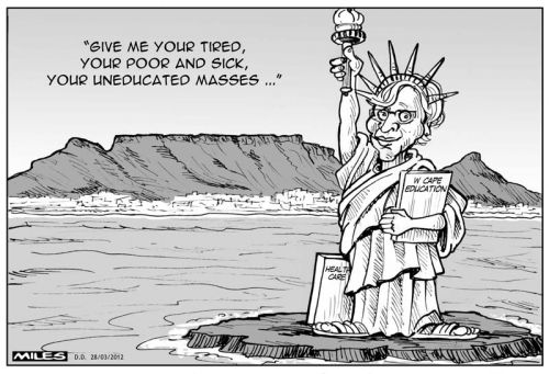 'Is Helen Zille a Statue of Liberty?': Africartoons.com