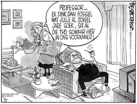 'A Fossil in my Lounge': Africartoons.com