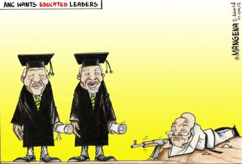 'Shooting for Excellence': Africartoons.com