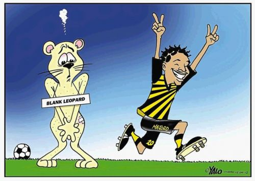 'Black Leopards Skinned Alive': Africartoons.com