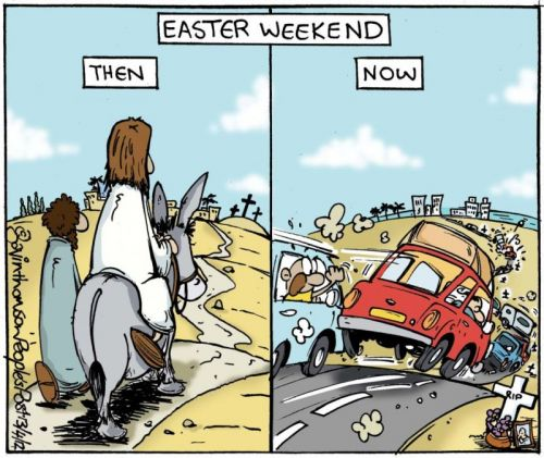 'Traffic on the Road to Easter': Africartoons.com