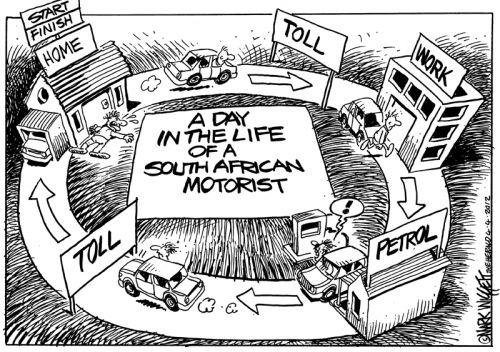 'The High Toll of Living in SA': Africartoons.com