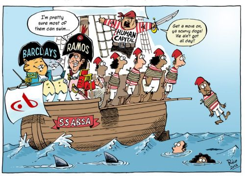 'Pirate Bank': Africartoons.com