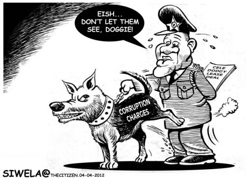 'Police Doggy and the Dodgy Policeman': Africartoons.com