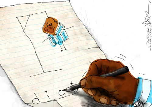 'Juju Plays Hangman': Africartoons.com