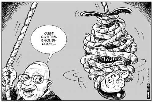 'Give Him Enough Rope...': Africartoons.com