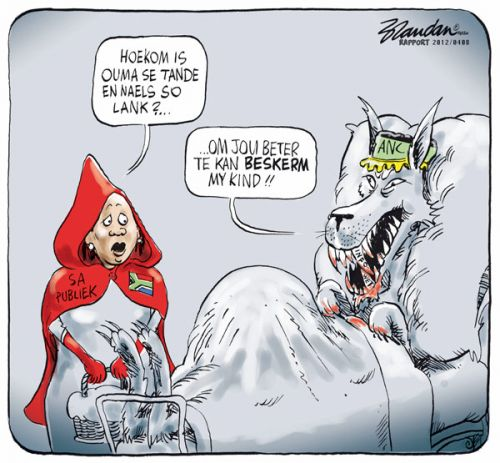 'Little Red Riding Hood and the Big Bad Secrecy Bill': Africartoons.com