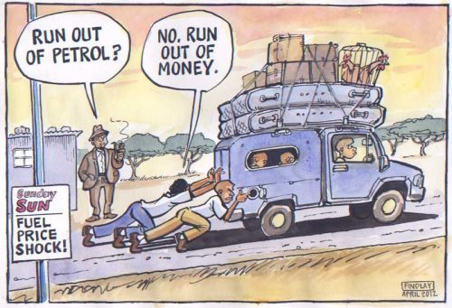 'Running on Empty': Africartoons.com