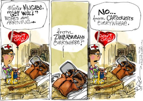 'Get Well Soon Bob!': Africartoons.com