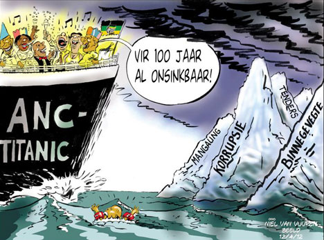 'Titanic Problems': Africartoons.com