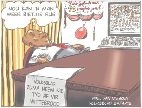 'Zuma Takes a Break': Africartoons.com