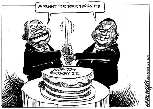 'Cutting the Cake': Africartoons.com