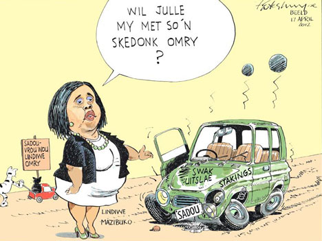'SADTU Tries to Teach MP a Lesson': Africartoons.com