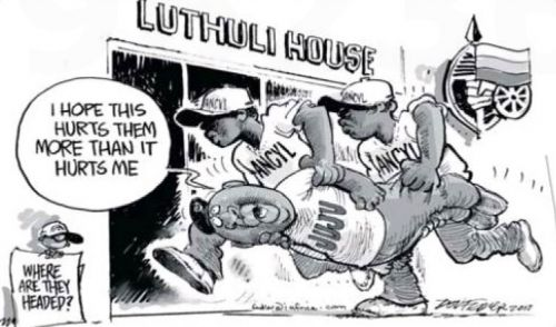 'Malema Butts In': Africartoons.com