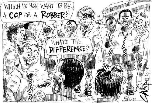 'Cops, Robbers, What's the Diffs?': Africartoons.com