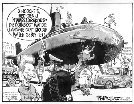 'Our World Record Breaking Sub': Africartoons.com