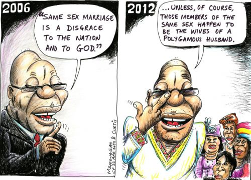 'Zuma on Marriage': Africartoons.com