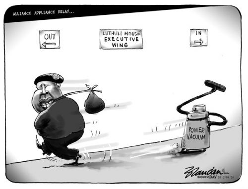 'Power Vacuum in Luthuli House': Africartoons.com