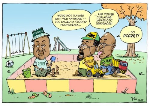 'ANC vs Nedbank in the Sandpit': Africartoons.com