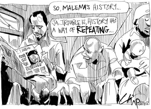 'Malema Expelled... for Now': Africartoons.com