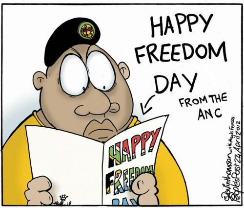 'Happy Freedom Day, Juju': Africartoons.com